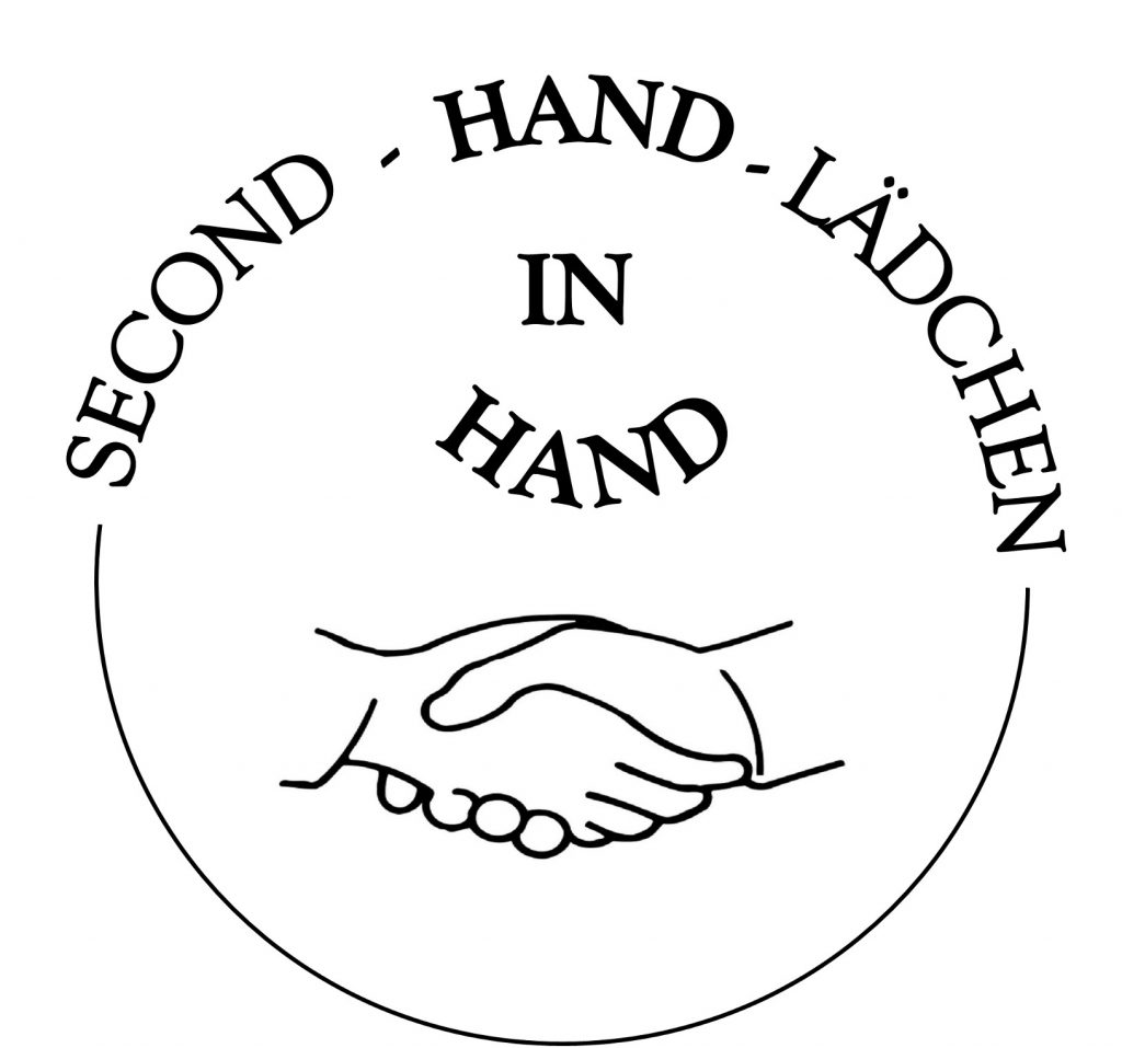 Logo des Second-Hand Lädchens: Hand in Hand